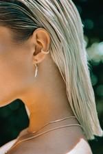 Wildthings Ivory Hoop Earring - Gold