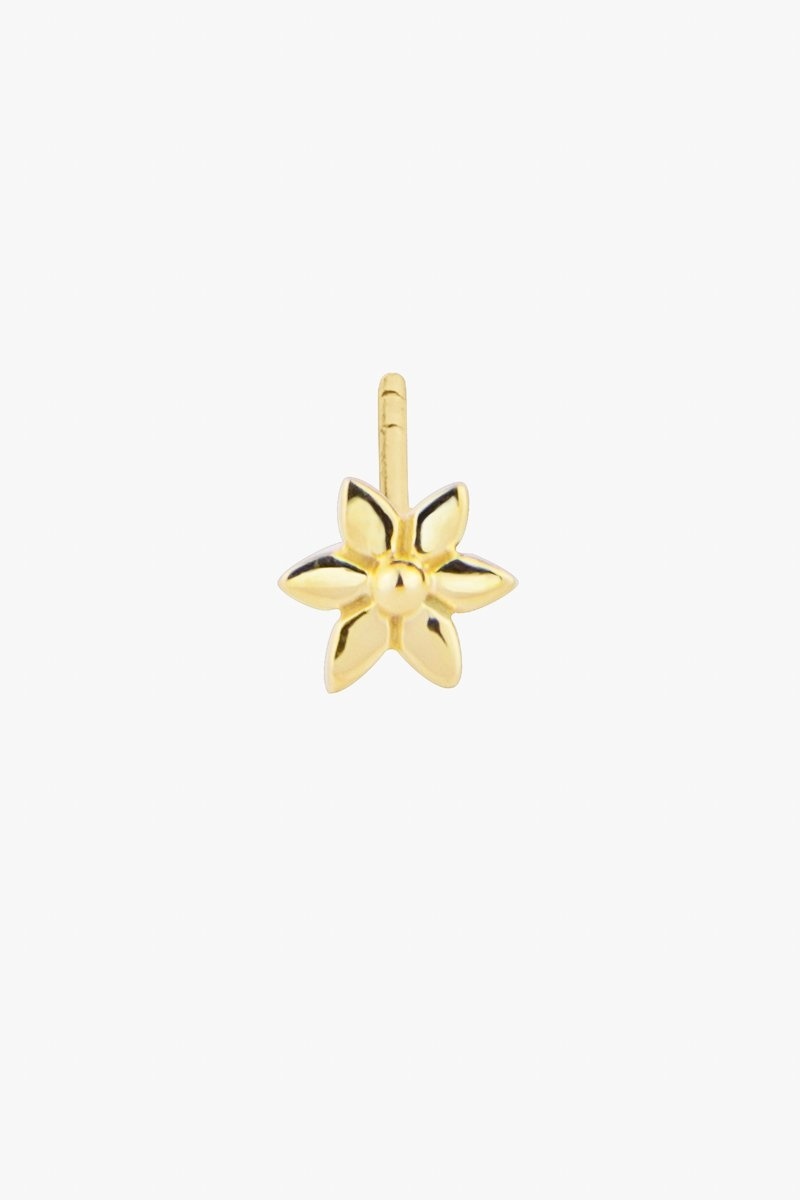 Wildthings Flower Stud Earring - Gold