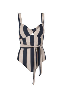 Notes du Nord Obi Twist Swimsuit - Black Stripe