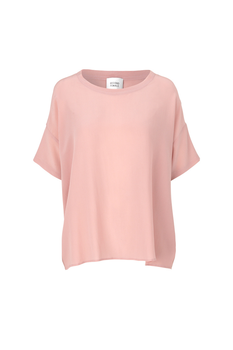 Second Female Tonga Silk Top - Pink