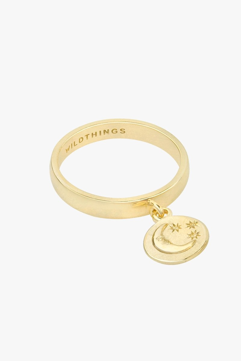 Wildthings Nightfall Charm Ring - Gold