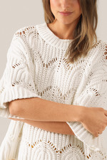 Second Female Tamma Knit O-Neck - White
