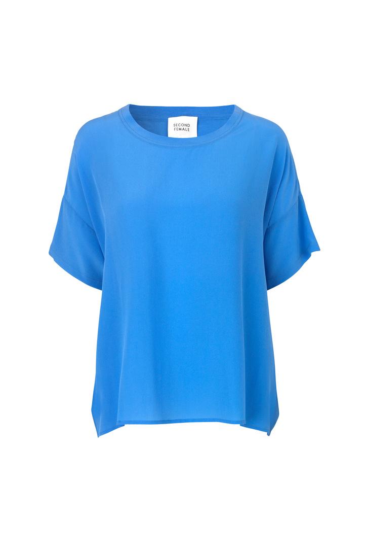 Second Female Tonga Silk Top - Blue