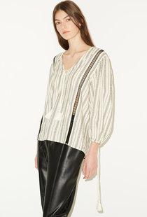 By Malene Birger Figne Blouse - Creme