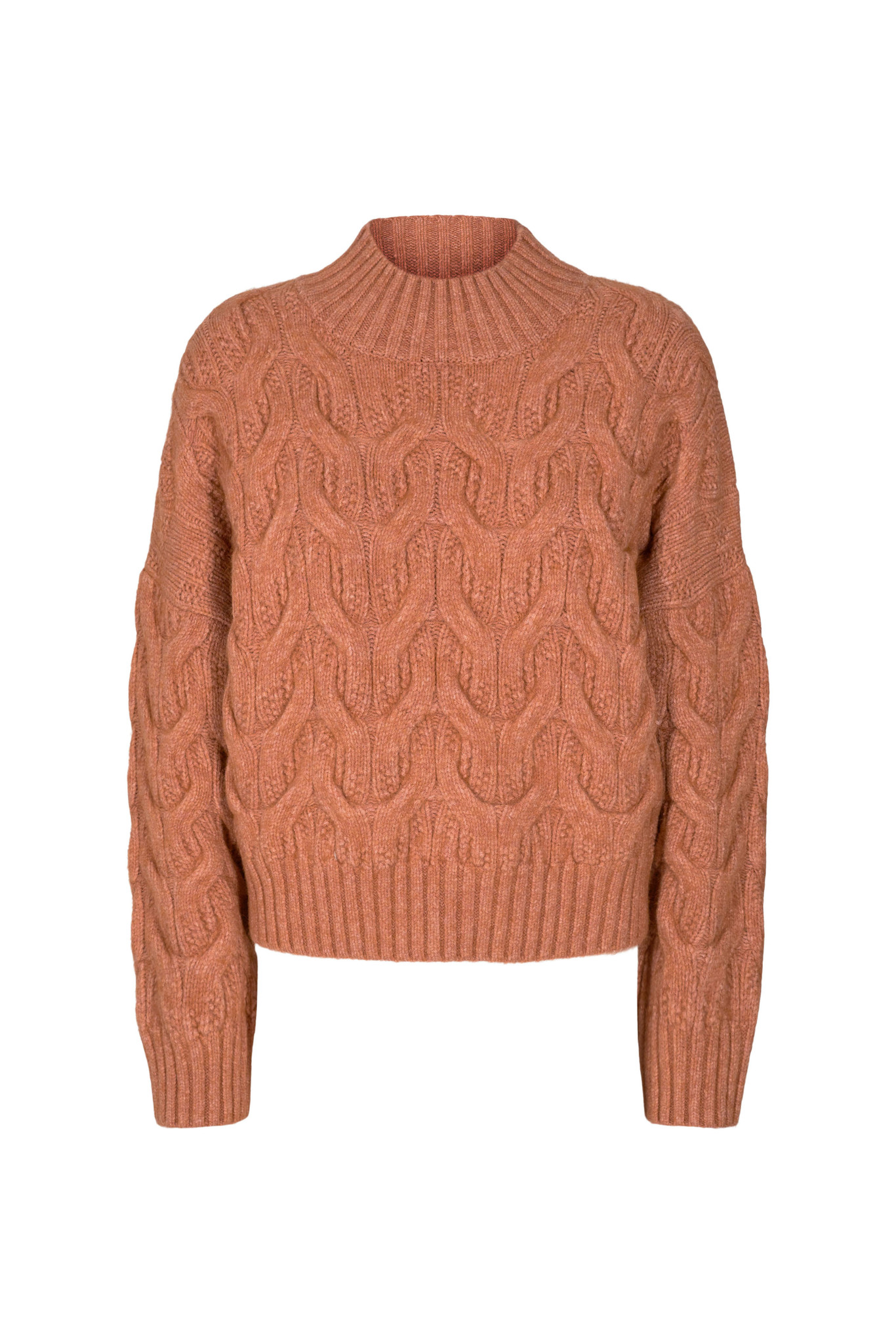Co Couture Jenesse Cable Knit - Cantaloupe