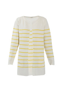 Sibin Linnebjerg Mary Short Cardigan - White/Yellow
