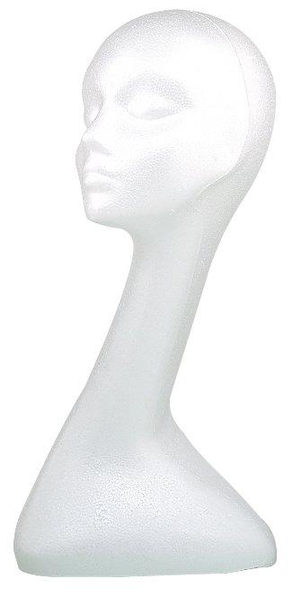 Sibel Sibel Mannequin voor Pruiken Styrofoom model voor pruiken.