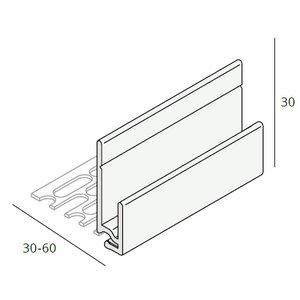 Keralit® Inhaak startprofiel aluminium (400 cm)