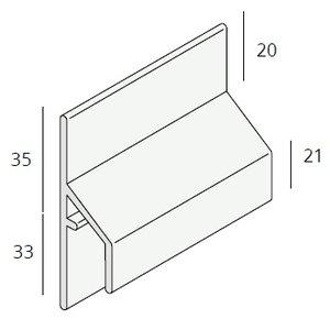 Keralit® Trim / kraal aansluitprofiel 17 mm (1 x 600 cm)