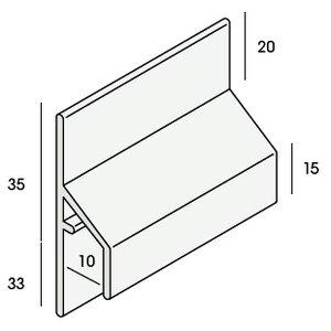 Keralit® Trim / kraal aansluitprofiel 10 mm (1 x 600 cm)