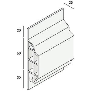 Keralit® Trim / kraal sierlijst 10 mm (1 x 600 cm)