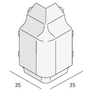 Keralit® Hoekstuk sierlijst (per stuk)