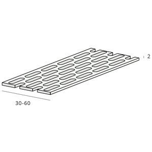 Keralit® Ventilatieprofiel 60 x 2 mm zwart (1 x rol 500 cm)
