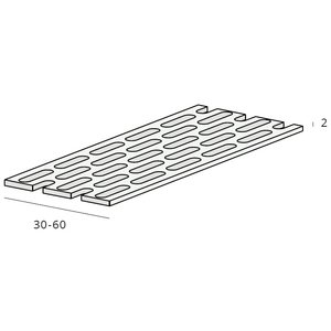 Keralit® Ventilatieprofiel 50 x 2 mm zwart (1 x rol 500 cm)