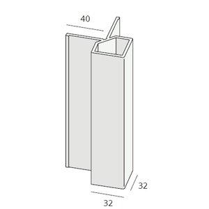 Keralit® Uitwendig hoekprofiel 32x32 mm (1 x 400 cm)