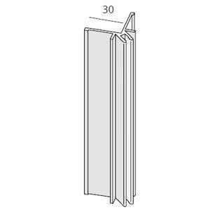 Keralit® Basis uitwendig hoekprofiel aluminium (1 x 400 cm)