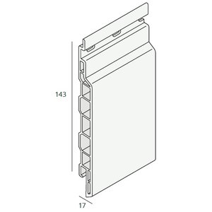 Keralit® Sponningdeel 143 mm paneel (1 x 600 cm)