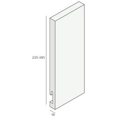 Unipanel® 235 mm paneel met sponning (1 x 580 cm)