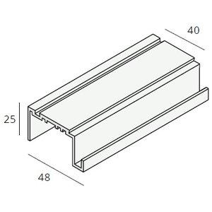 Unipanel® Dakrand uitlijnprofiel (1 x 550 cm)