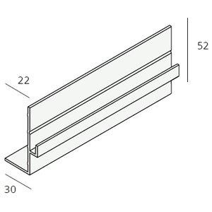 Unipanel® Boeiboord uitlijnprofiel (1 x 550cm)