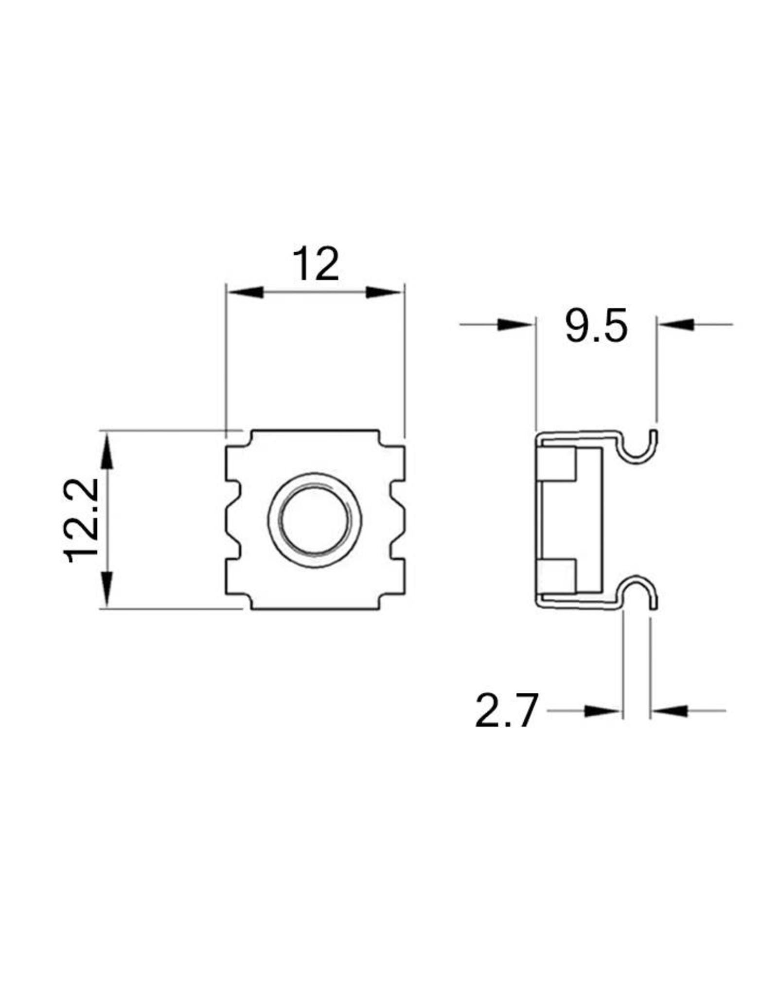 Penn Elcom Penn Elcom kooimoer M6, 2 mm, 100 stuks