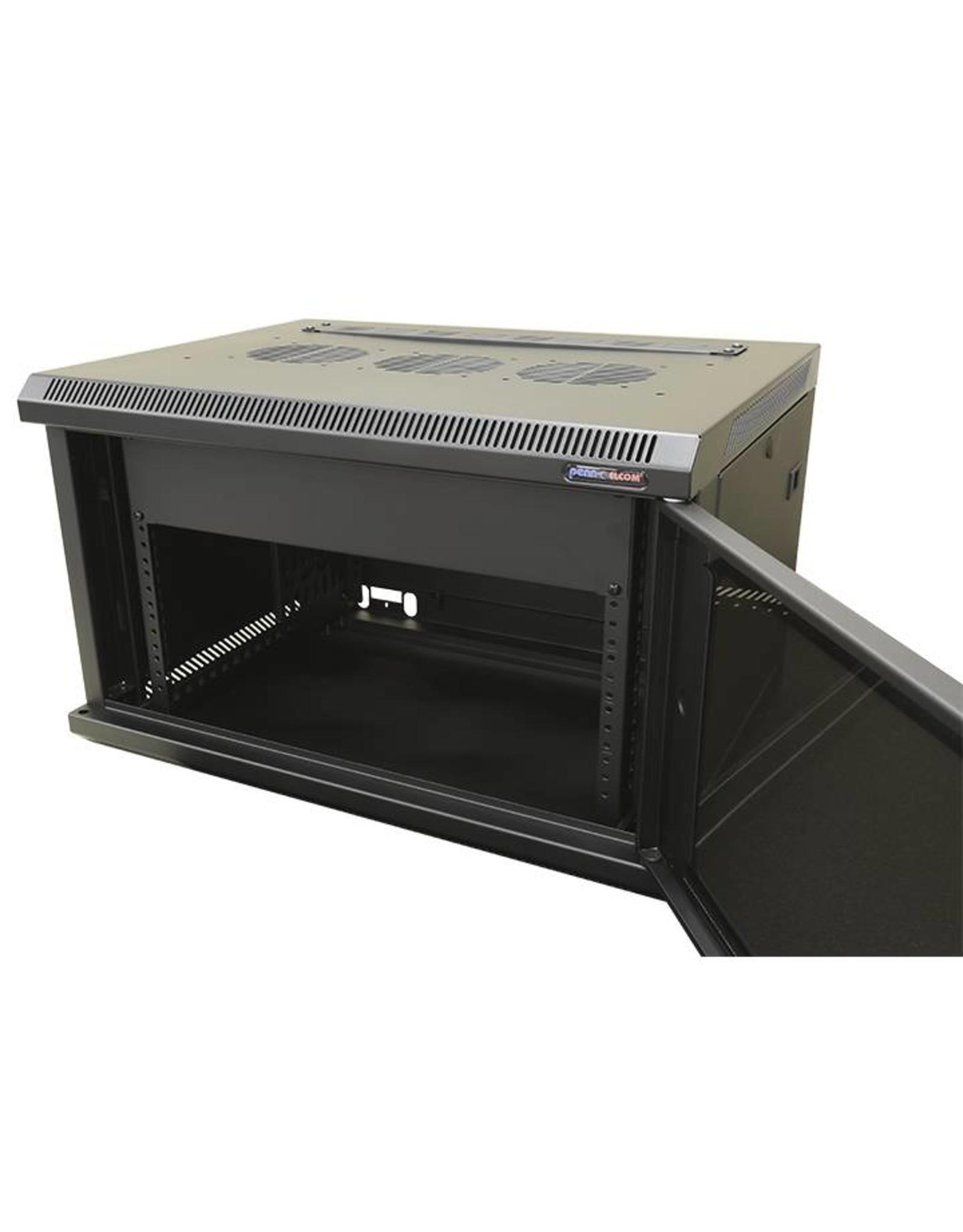 Penn Elcom Penn Elcom 19 inch kast 12 HE wandmontage, 1 deur, 600 mm diep