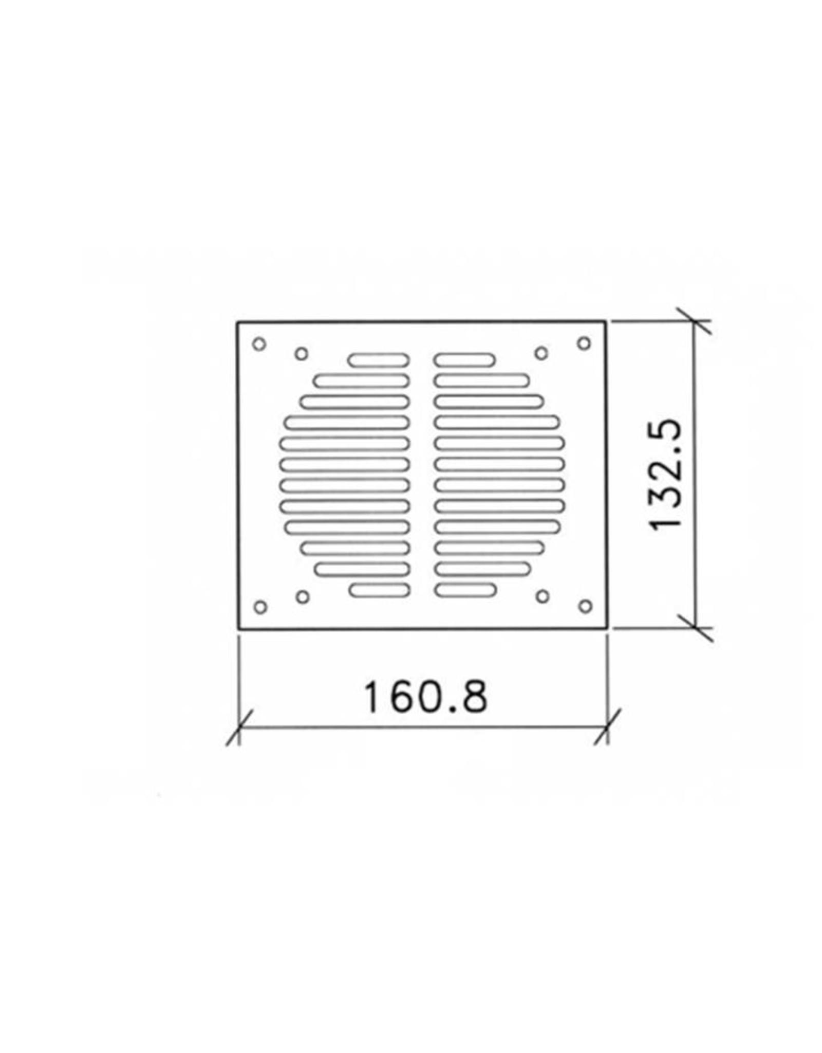 Penn Elcom Penn Elcom grill voor 1x fan 120 x 120 mm (RG-6339)