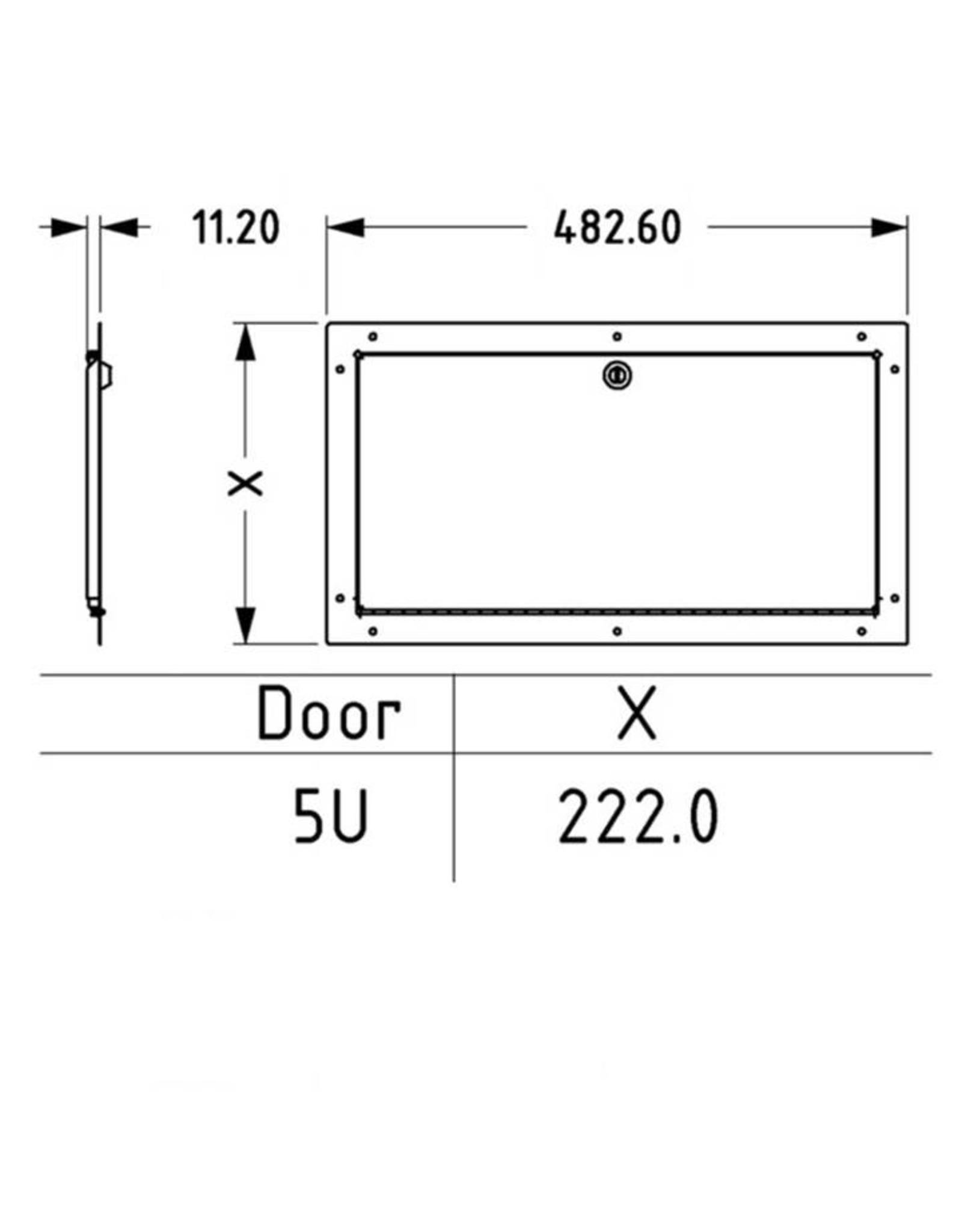 Penn Elcom Penn Elcom rack deur 19 inch, staal,  hoogte 5 HE, afsluitbaar