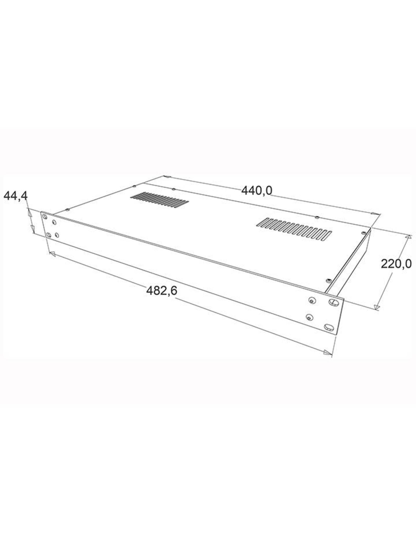 Penn Elcom Penn Elcom 19 inch kast + frontplaat, 1 HE, 220 mm diep