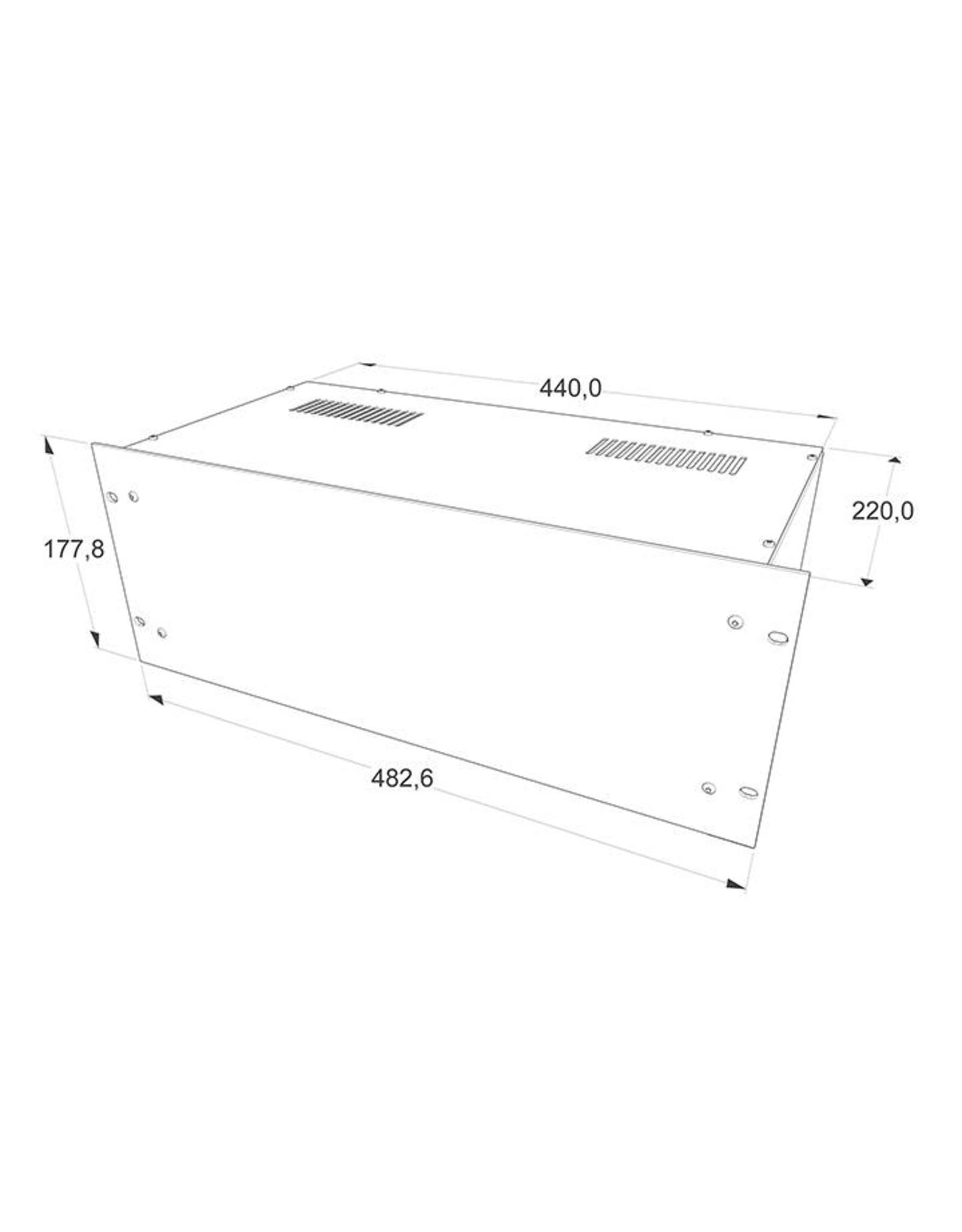 Penn Elcom Penn Elcom 19 inch kast + frontplaat, 4 HE, 220 mm diep
