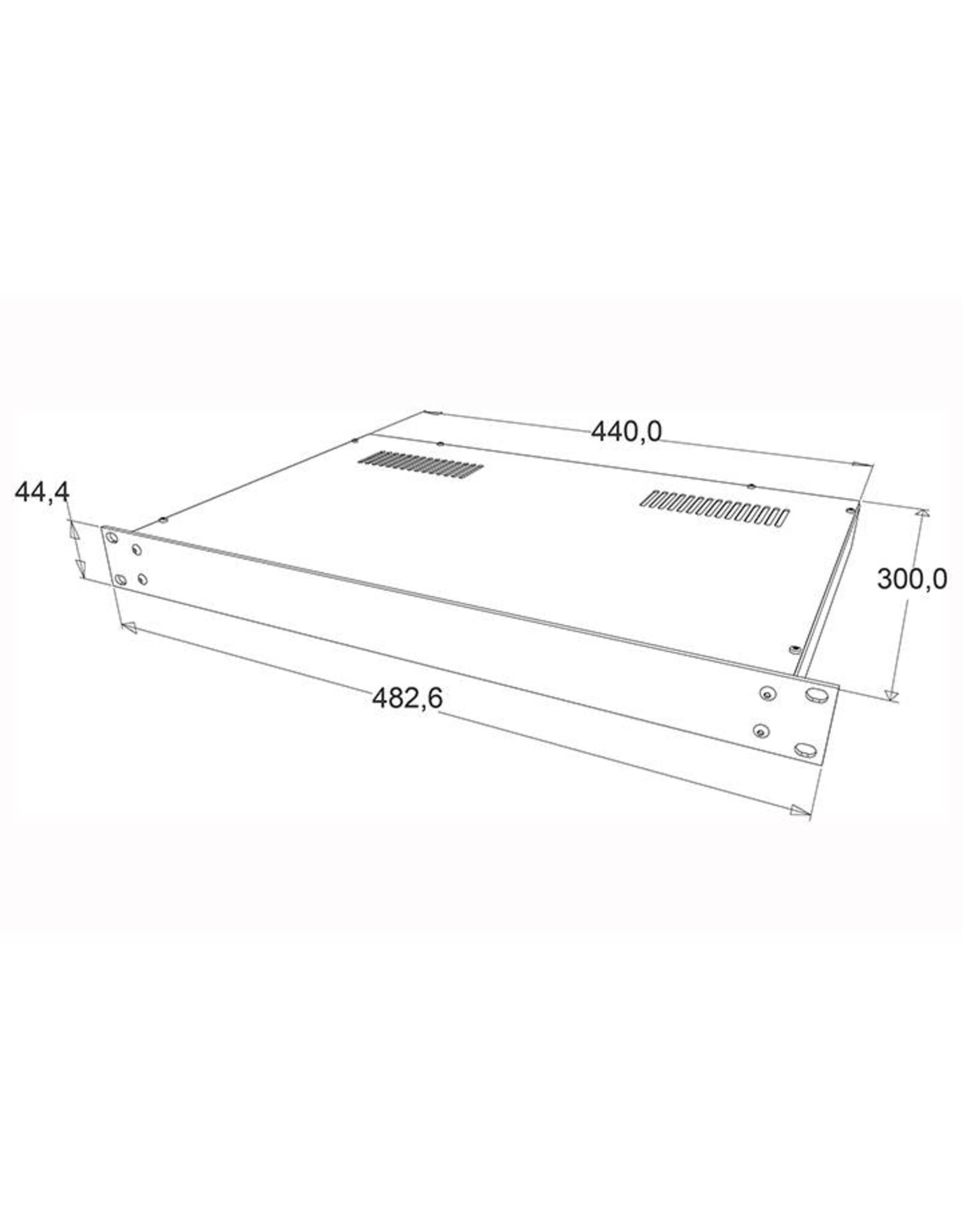 Penn Elcom Penn Elcom 19 inch kast + frontplaat, 1 HE, 300 mm diep