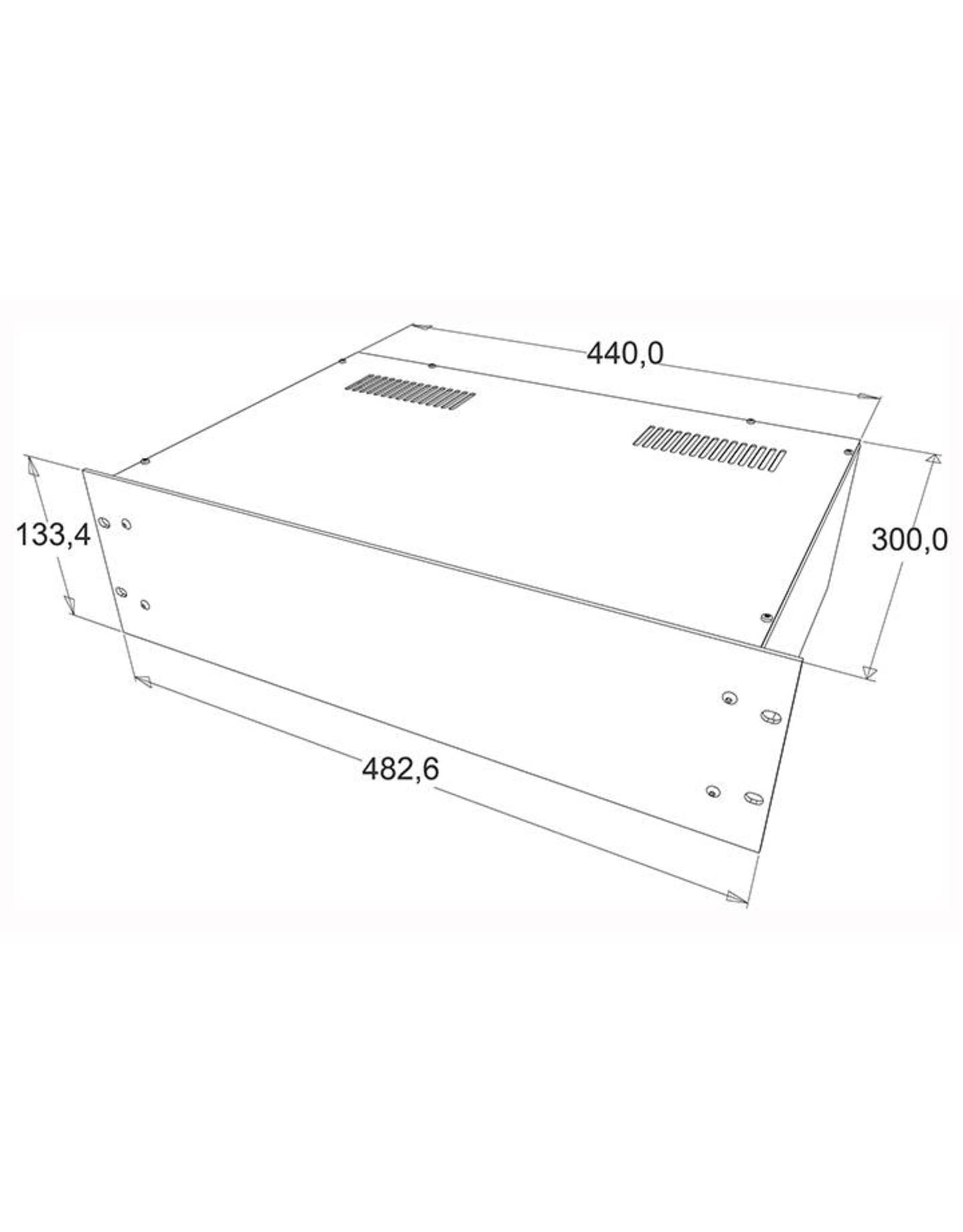 Penn Elcom Penn Elcom 19 inch kast + frontplaat, 3 HE, 300 mm diep