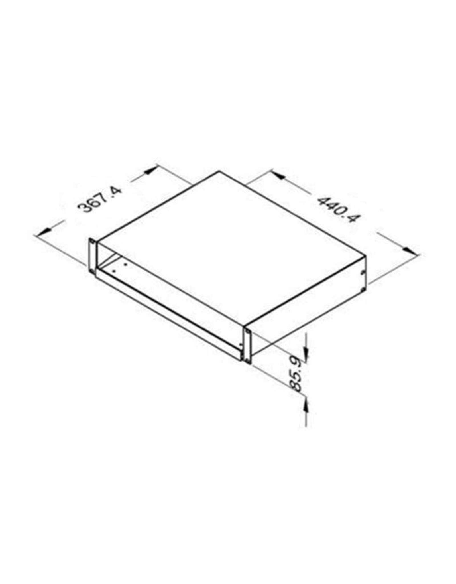 Penn Elcom Penn Elcom uitschuifbaar ladeplateau, 2 HE, voor toetsenbord, 435 x 235 mm