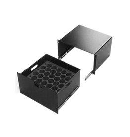 Penn Elcom Ladekast 6 HE + inlay voor 25 microfoons