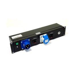 Penn Elcom 2 HE Stroomverdeel-unit 16A met 8x Powercon