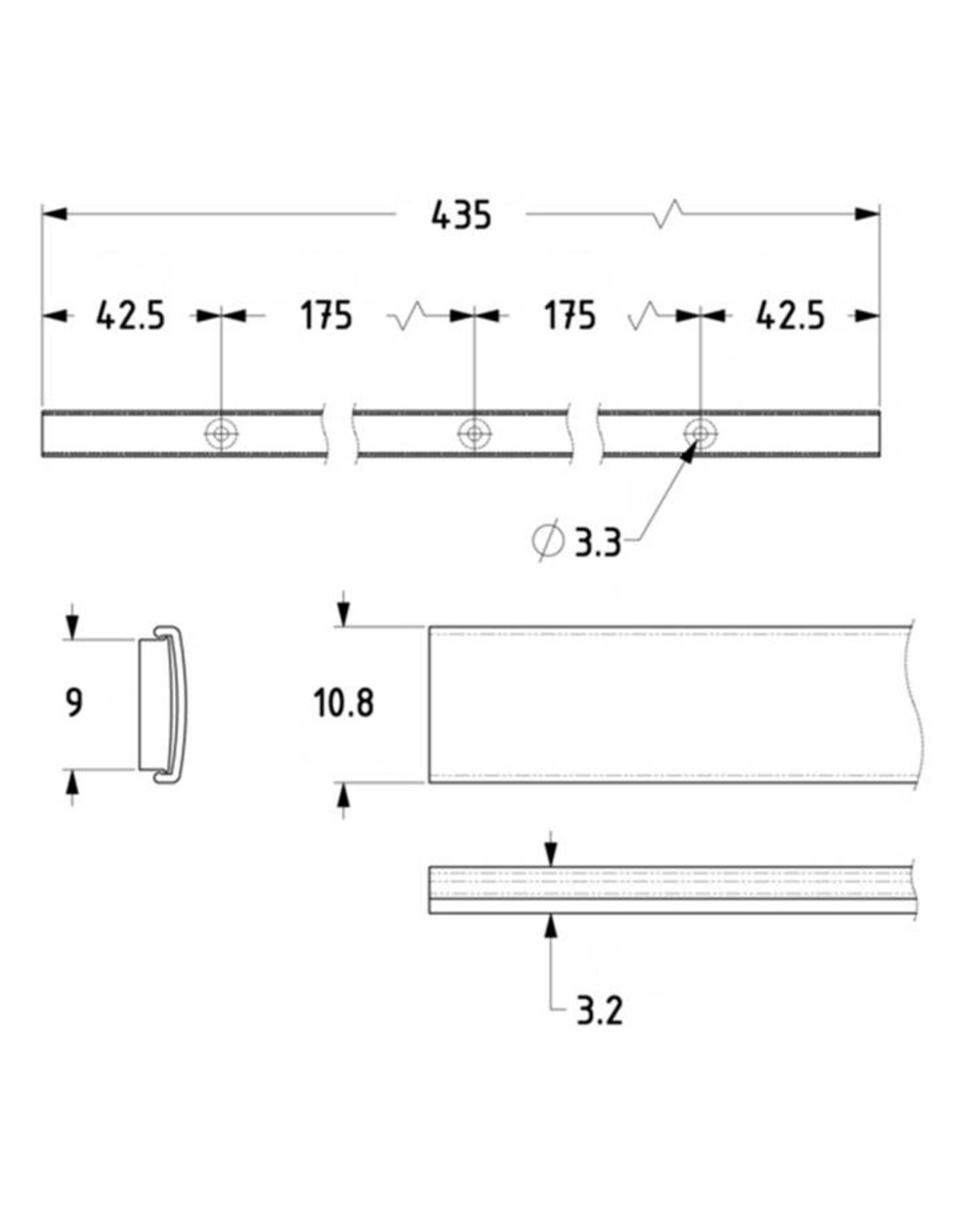 Penn Elcom ID Strip Penn Elcom zelfplakkende aluminium-plastic IDStrip, 435 mm