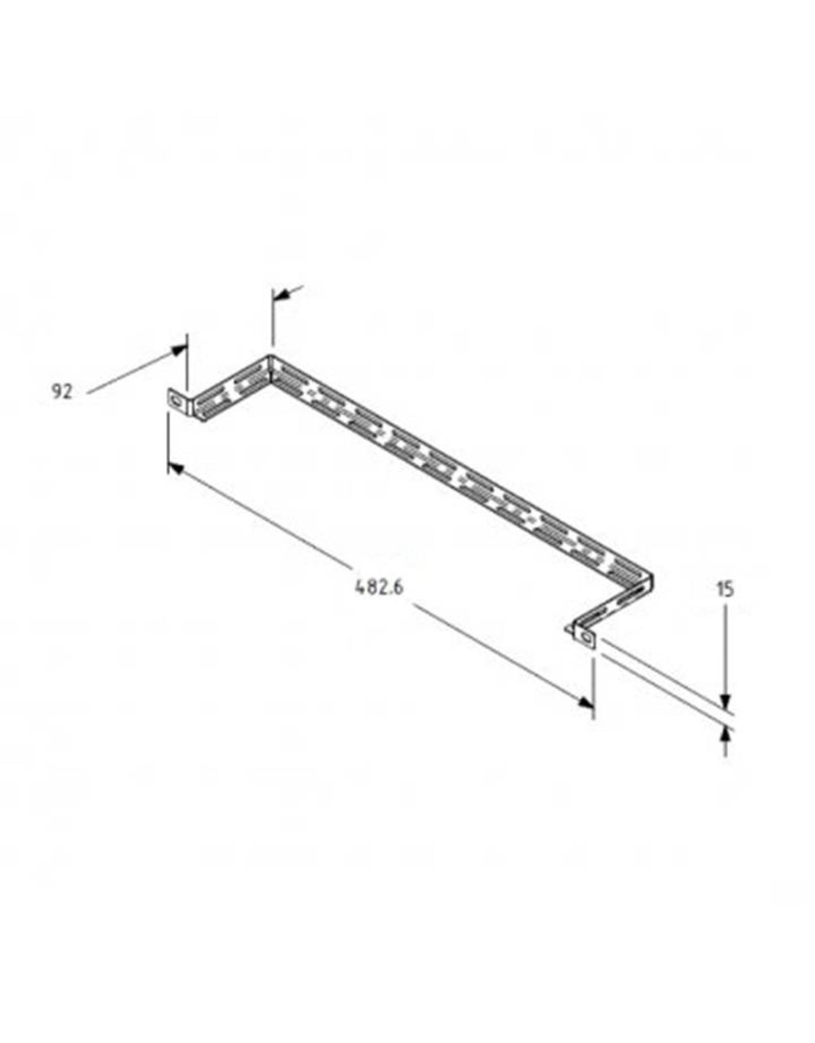 Penn Elcom Penn Elcom 19 inch rack mount cable support tie-bar, 92 mm