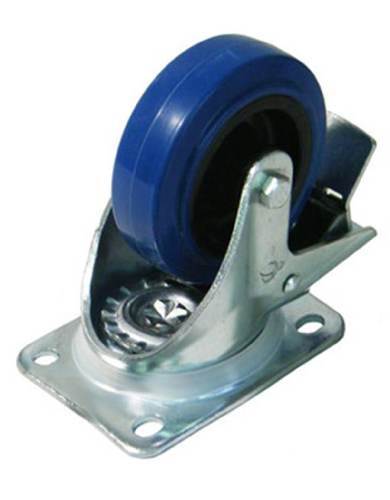 Penn Elcom Penn Elcom W0985/80 zwenkwiel + rem 80 mm, blauw
