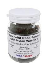 Penn Elcom Penn Elcom High Point bout, kruiskop M6x22, zwart, 100 stuks