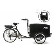 Popal  Elektrisch Bakfiets Cangoo Tour Zwart V6