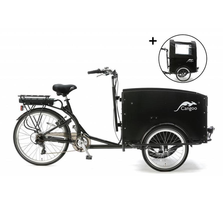 Elektrisch Bakfiets Cangoo Tour Zwart V6