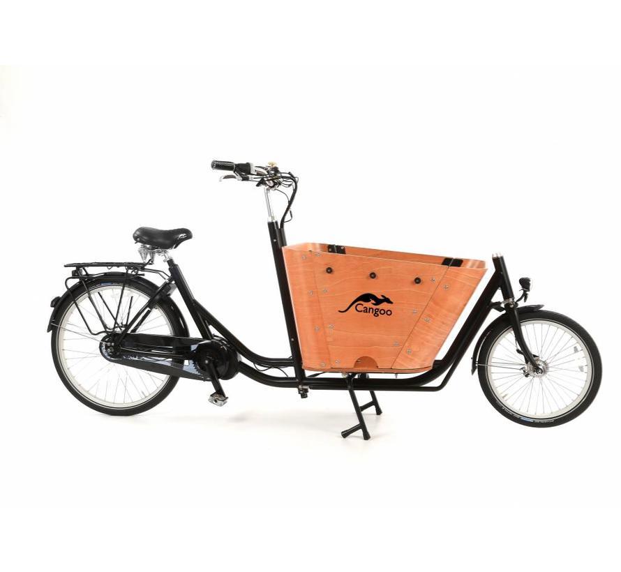 elektrische bakfiets Cangoo Cityhopper 8 Speed Zwart Naturel