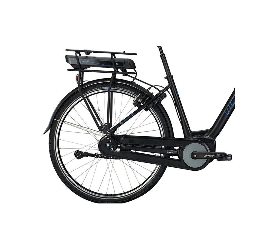eTrekking 7.4 elektrische fiets 7V Mat Zwart - 500Wh