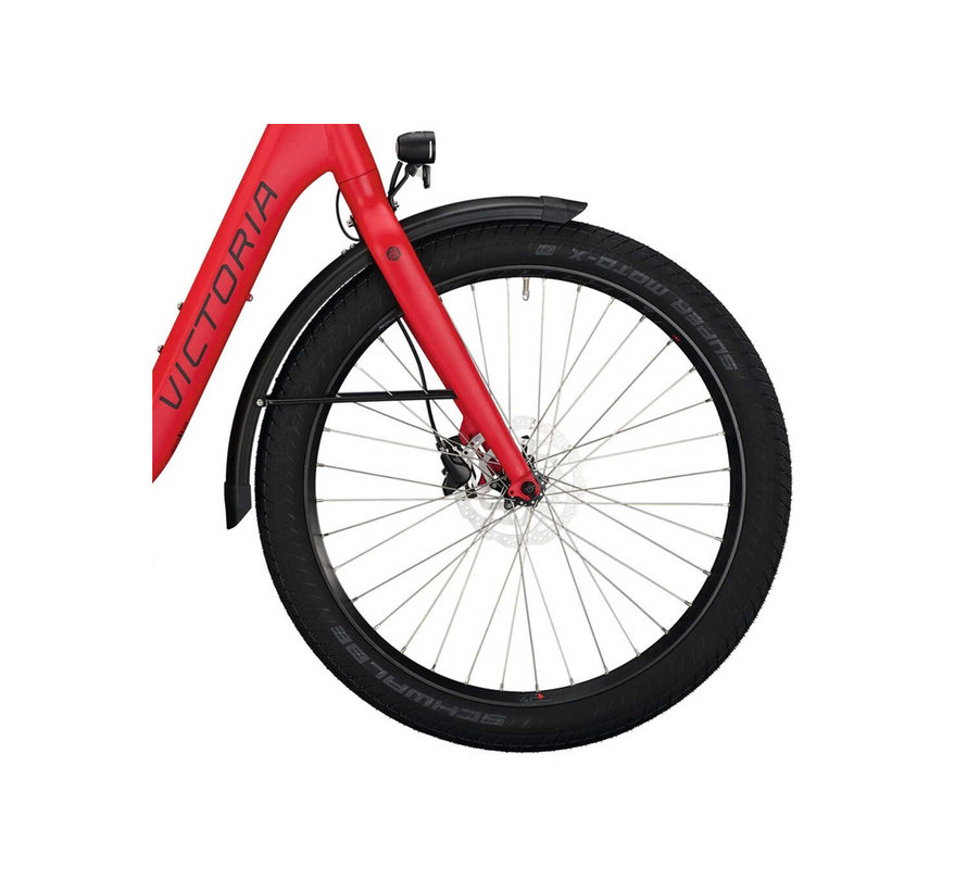 eUrban 11.8 elektrische fiets 5V Traffic Mat Rood - 500Wh