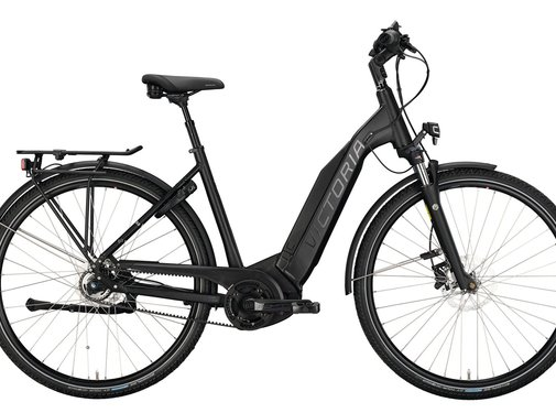 Victoria  eTrekking 9.8 elektrische fiets 5V Mat Zwart Bosch 500 Wh