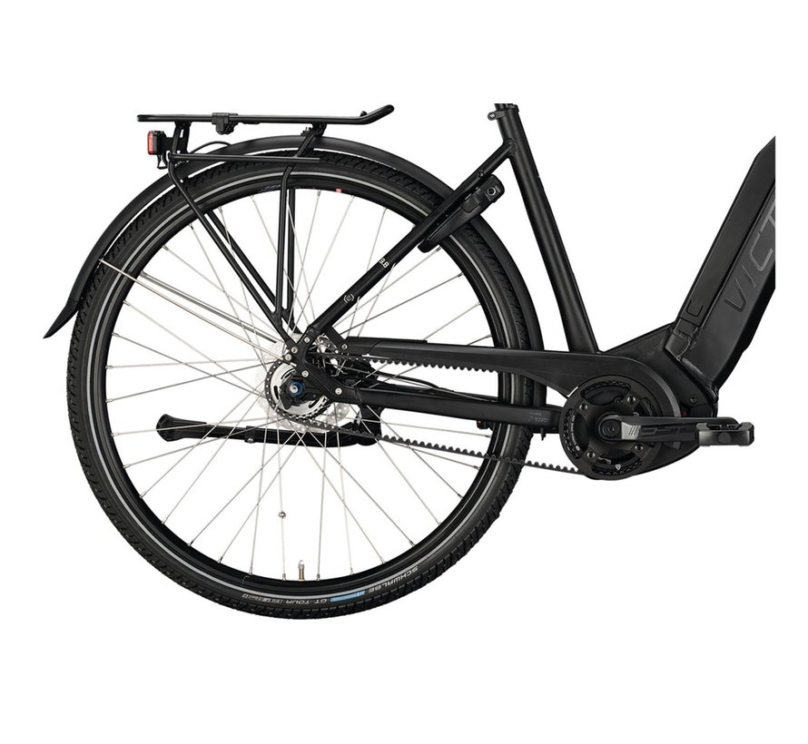 eTrekking 9.8 elektrische fiets deep mat zwart/anthracite Bosch 500 Wh