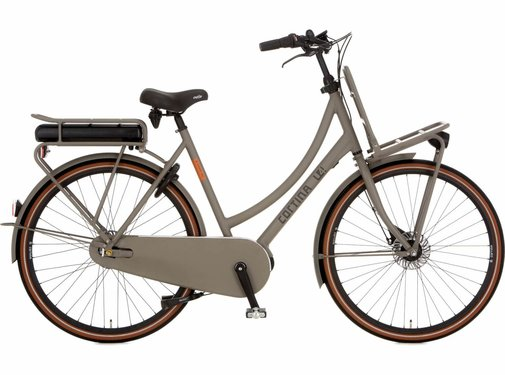 Cortina  E-U4 Solid damesfiets Quarz Grey RB7 - Middenmotor