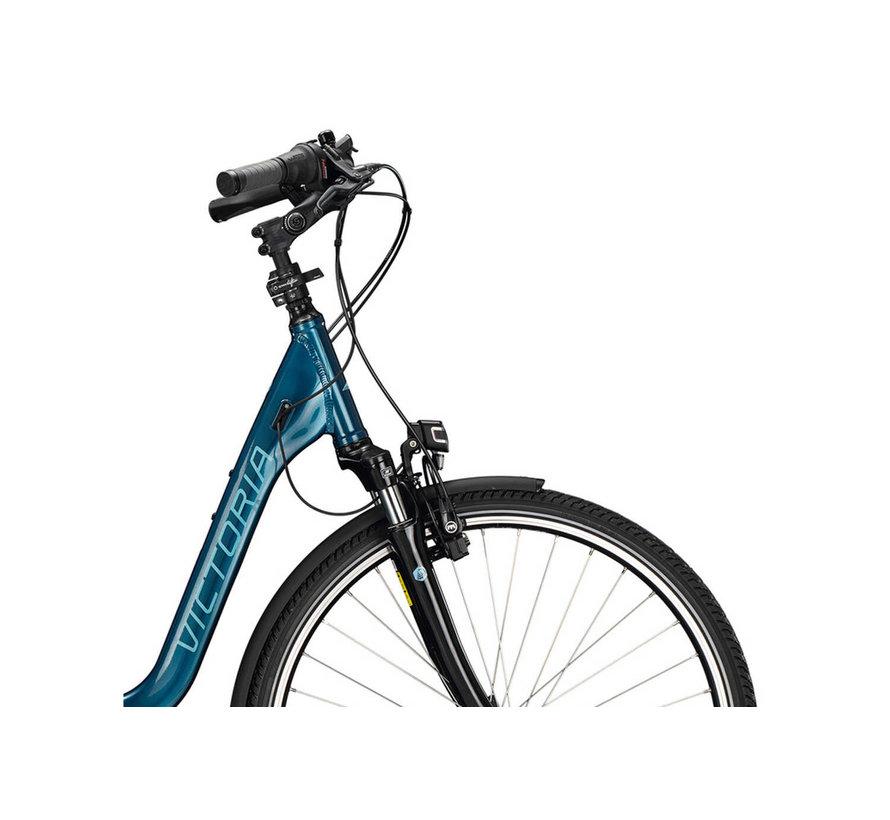 eTrekking 7.4 E Bike dames  Blauw Bosch 500 Wh