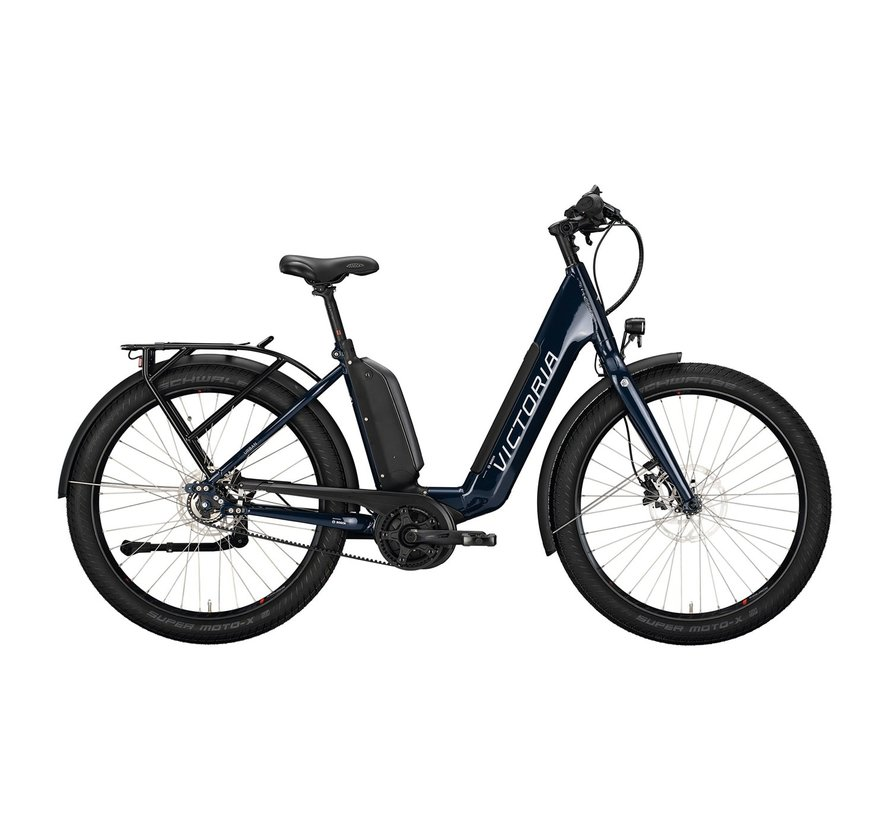 eUrban 13.8 elektrische fiets 5V Blauw Antreciet - Belt 500Wh