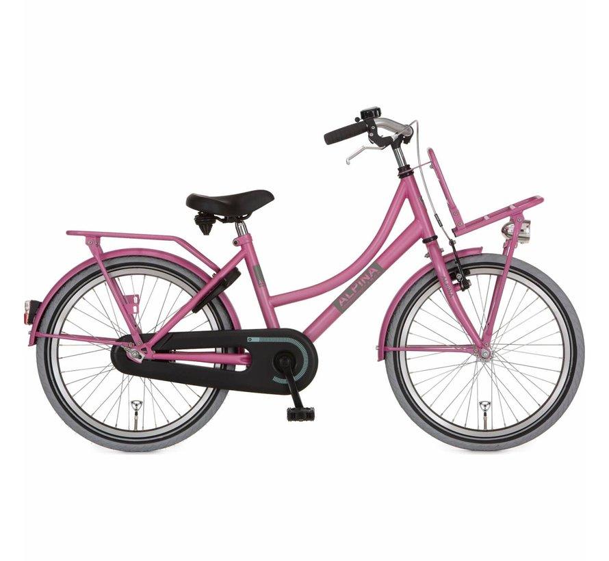 Cargo meisjesfiets 22 inch Fuchsia Pink Matt